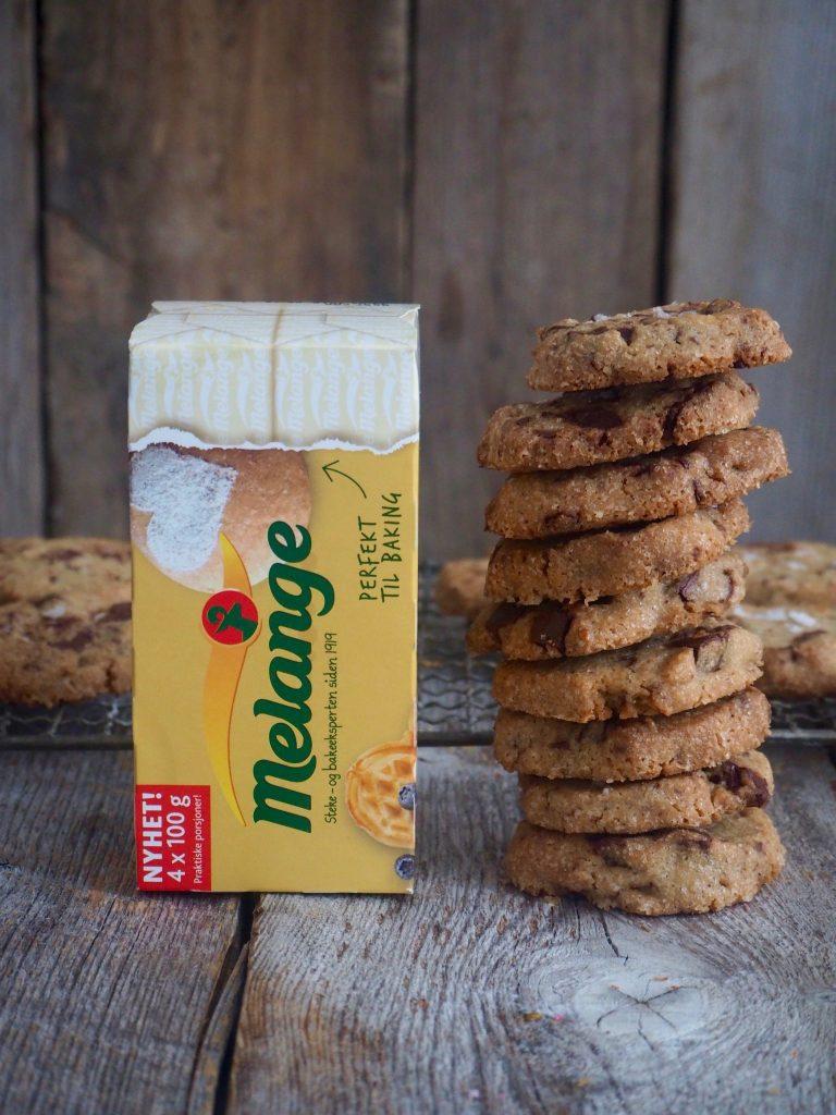 Chocolate chip cookies - cookies med store sjokoladebiter