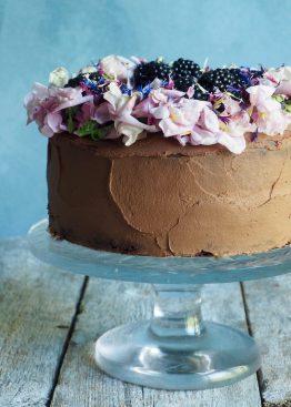 litt sunnere sjokoladekake