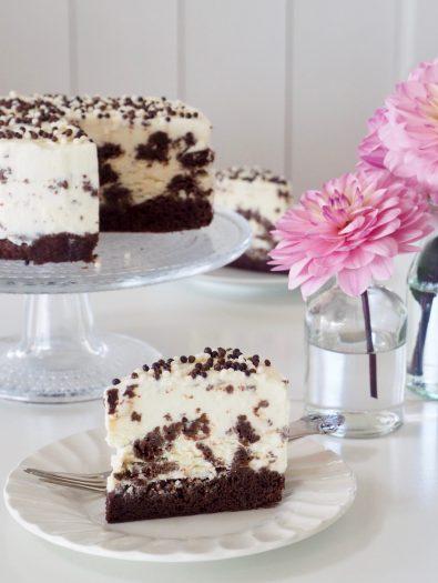 Brownie iskake (laget uten iskremmaskin)