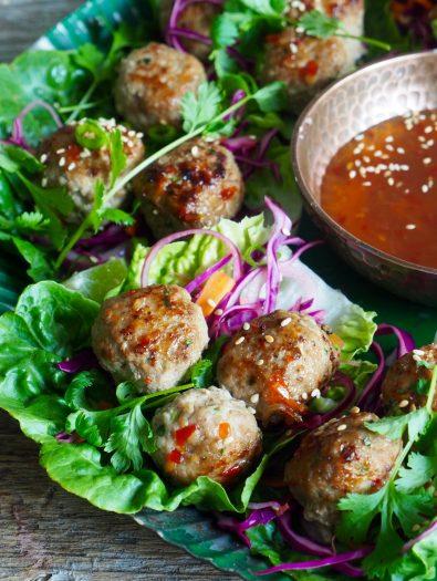 Wraps med asiatiske kjøttboller