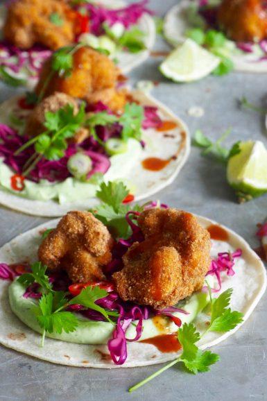 Vegetartaco med sprøstekt blomkål