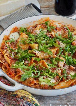 Rask lasagne i panne (uten stekeovn)