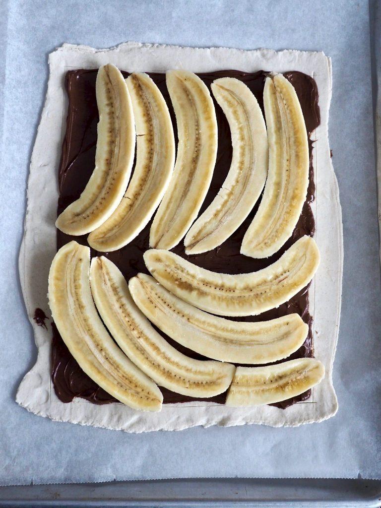 (Jukse)pai med nugatti og banan