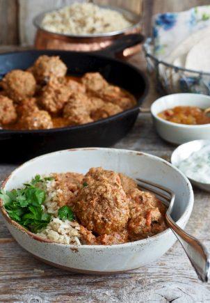 Indiske kjøttboller i herlig saus
