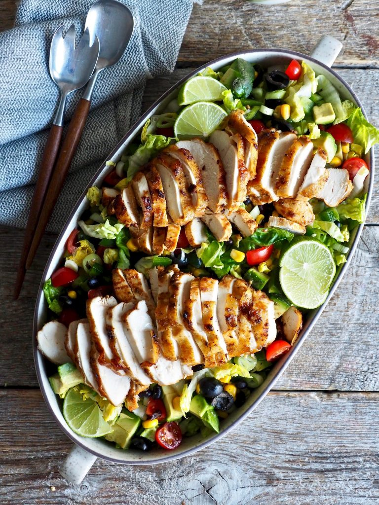 Tacosalat med kylling