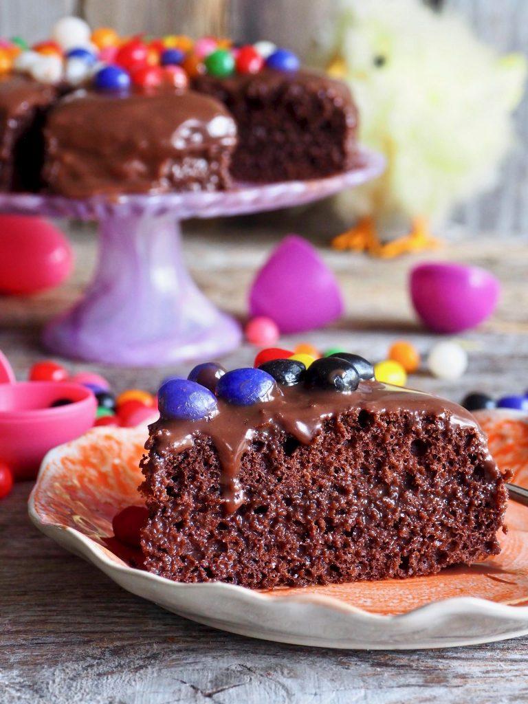 Enkel, liten sjokoladekake
