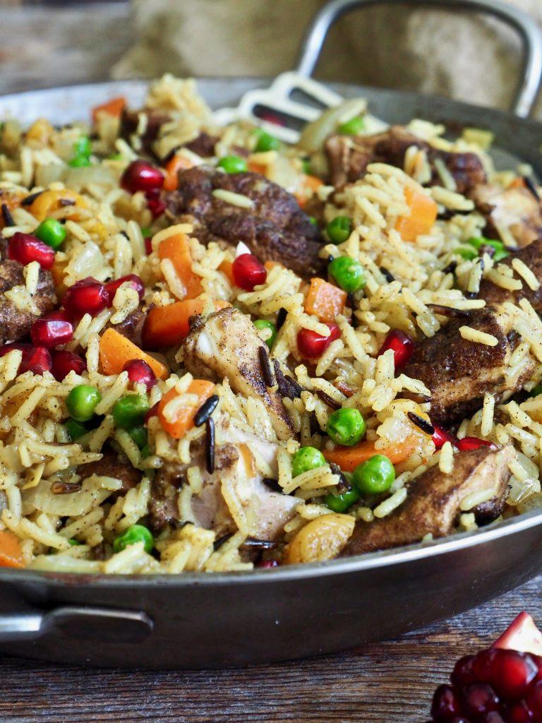 Alt i en gryte kylling og ris