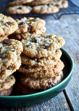 Seige cookies med sjokolade og kokos
