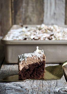Sjokoladekake i langpanne med kokos