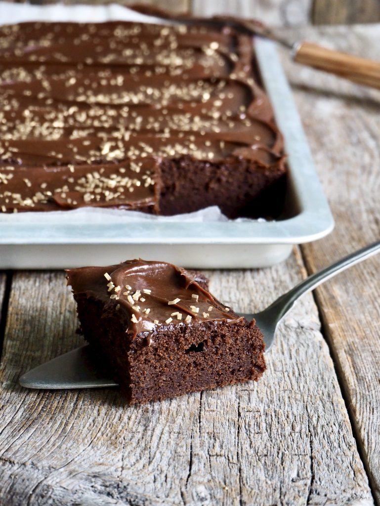 Den saftigste sjokoladekaken i langpanne