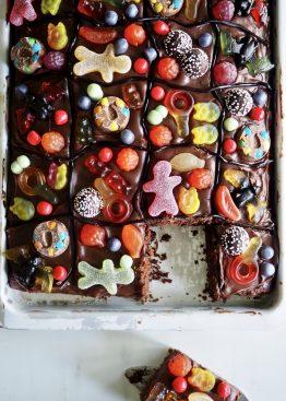 sjokoladekake i langpanne (godterikake)