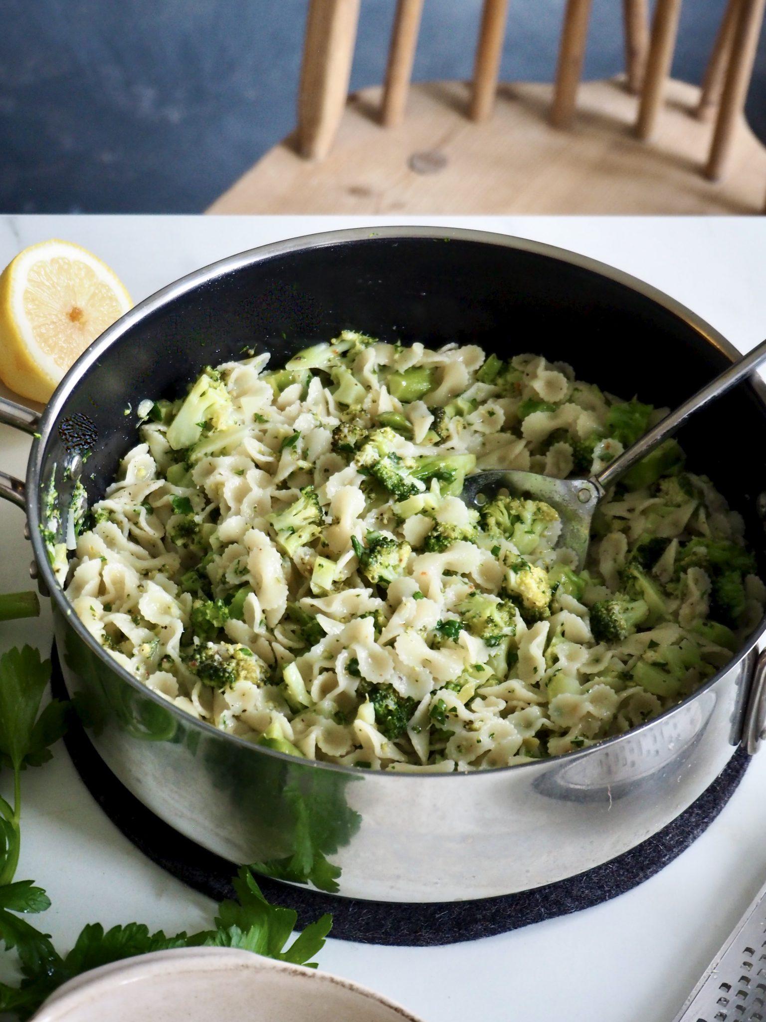 Grønn pasta / brokkolipasta