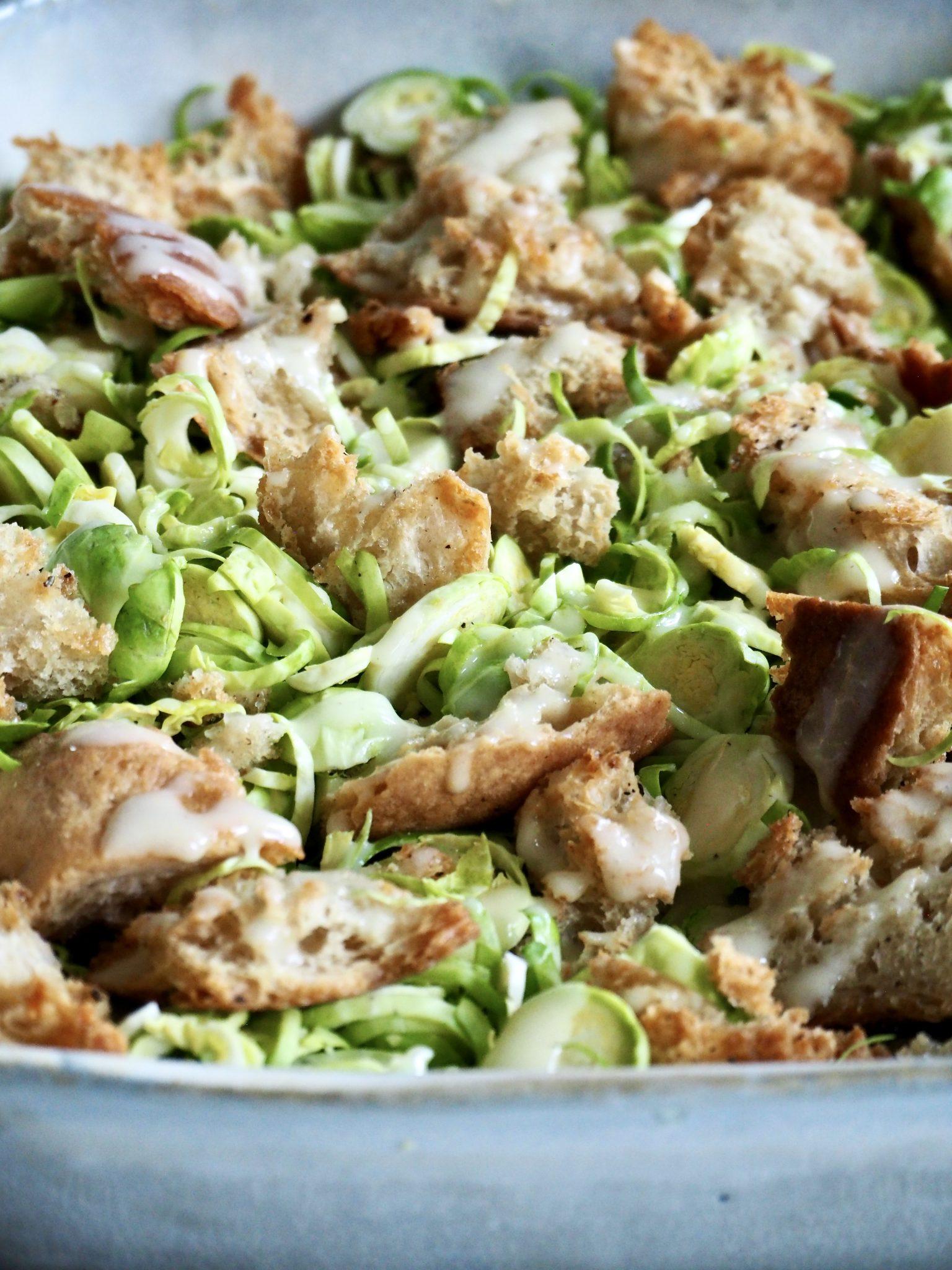 Caesar salat - med rosenkål