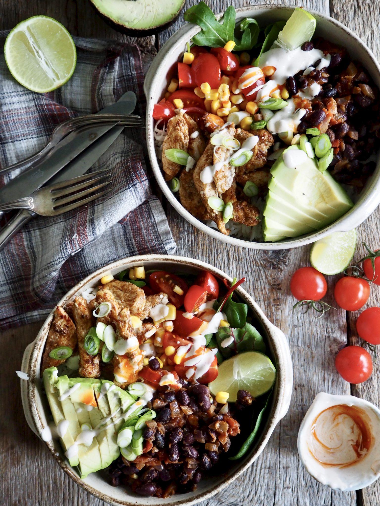 Matildas taco-bowl med kylling