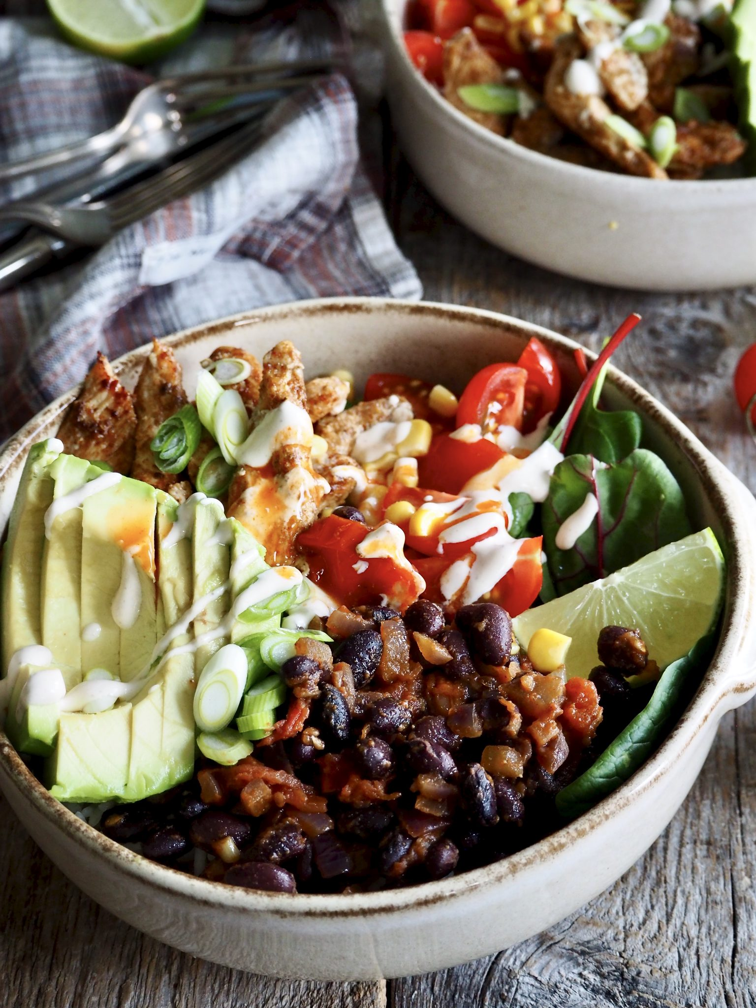 Matildas taco-bowl (med kylling)