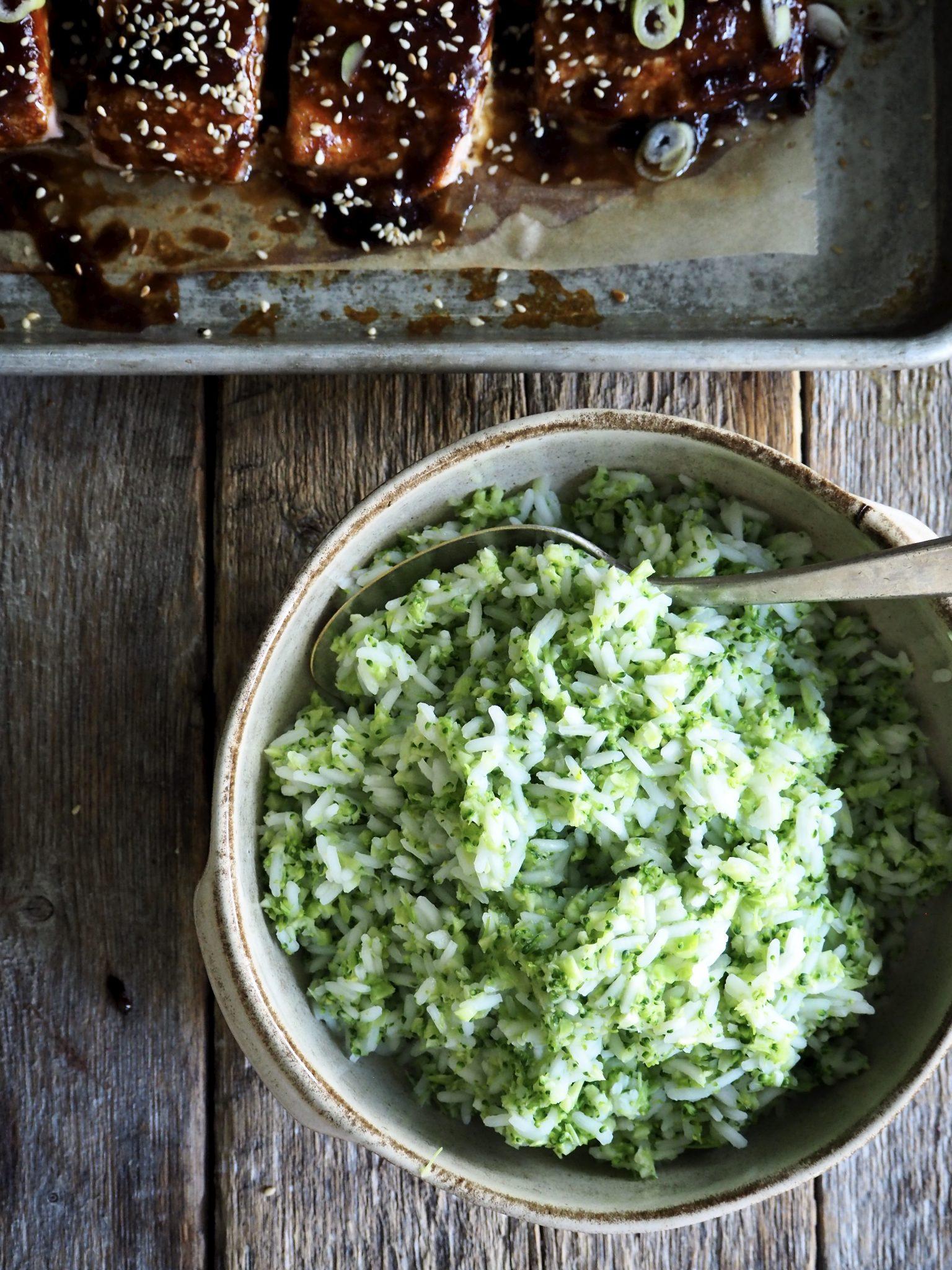 Thai laks og brokkoliris