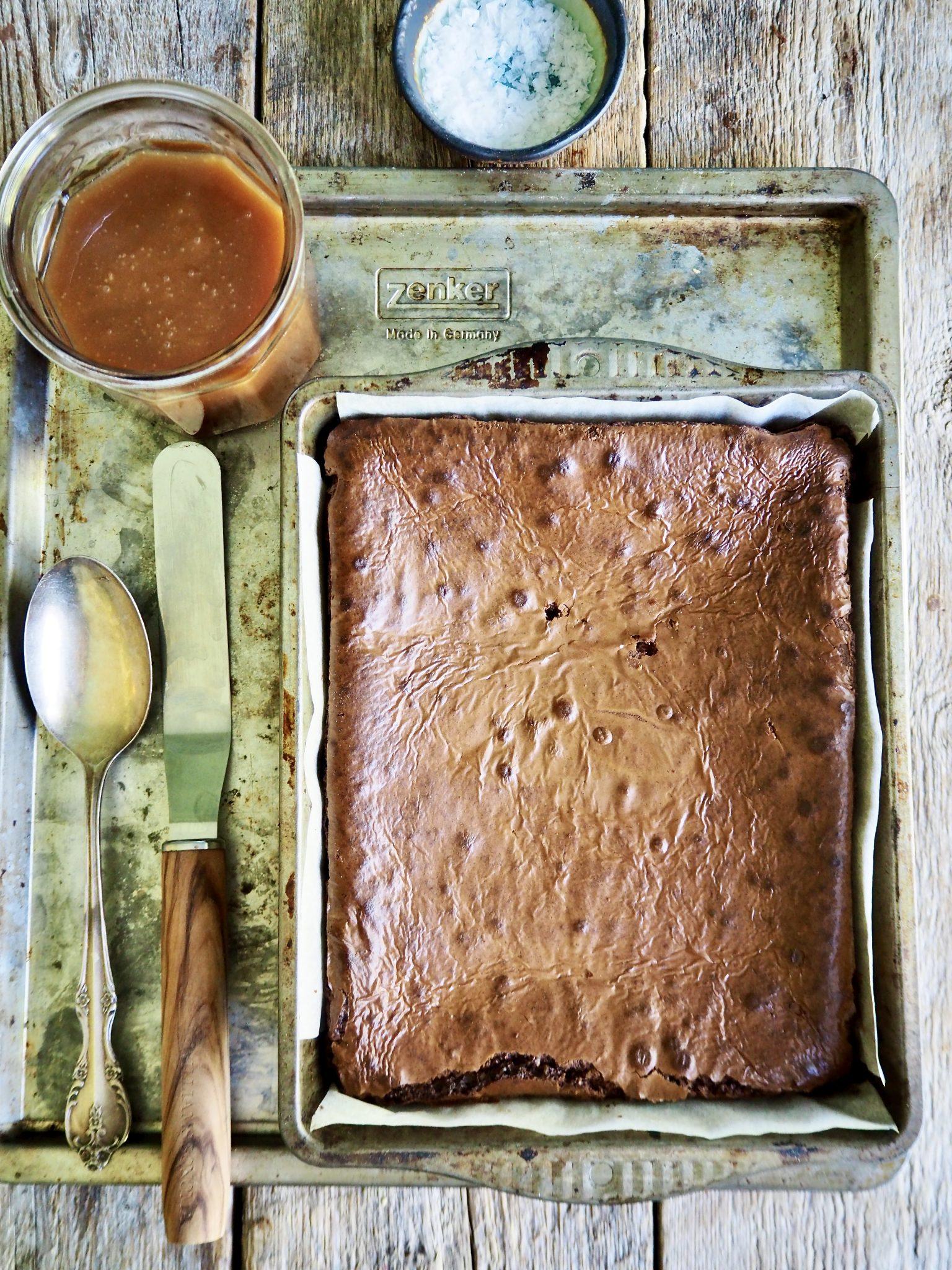 Brownies med salt karamell