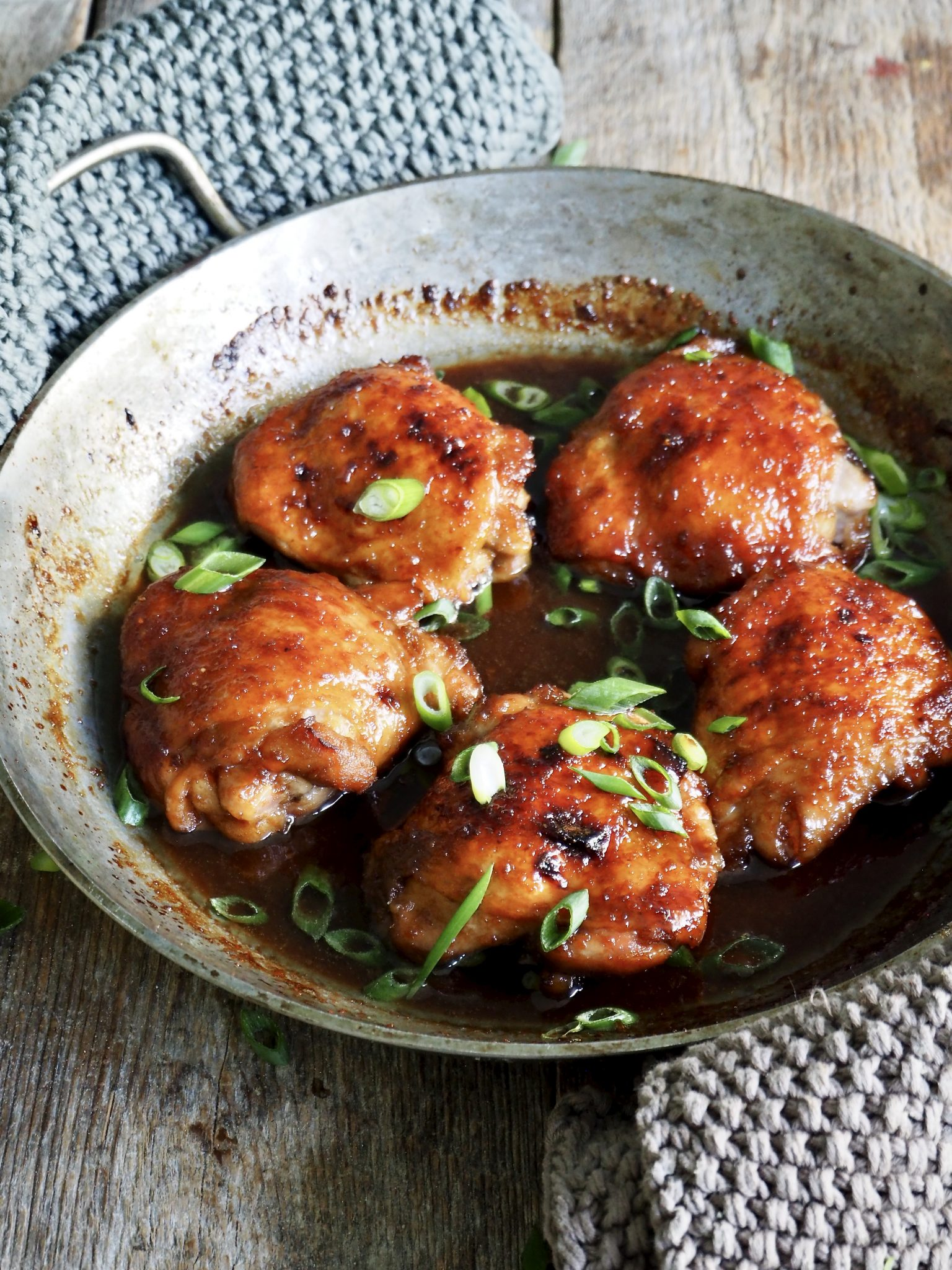 Ovnsbakt kylling med soyasaus og honning