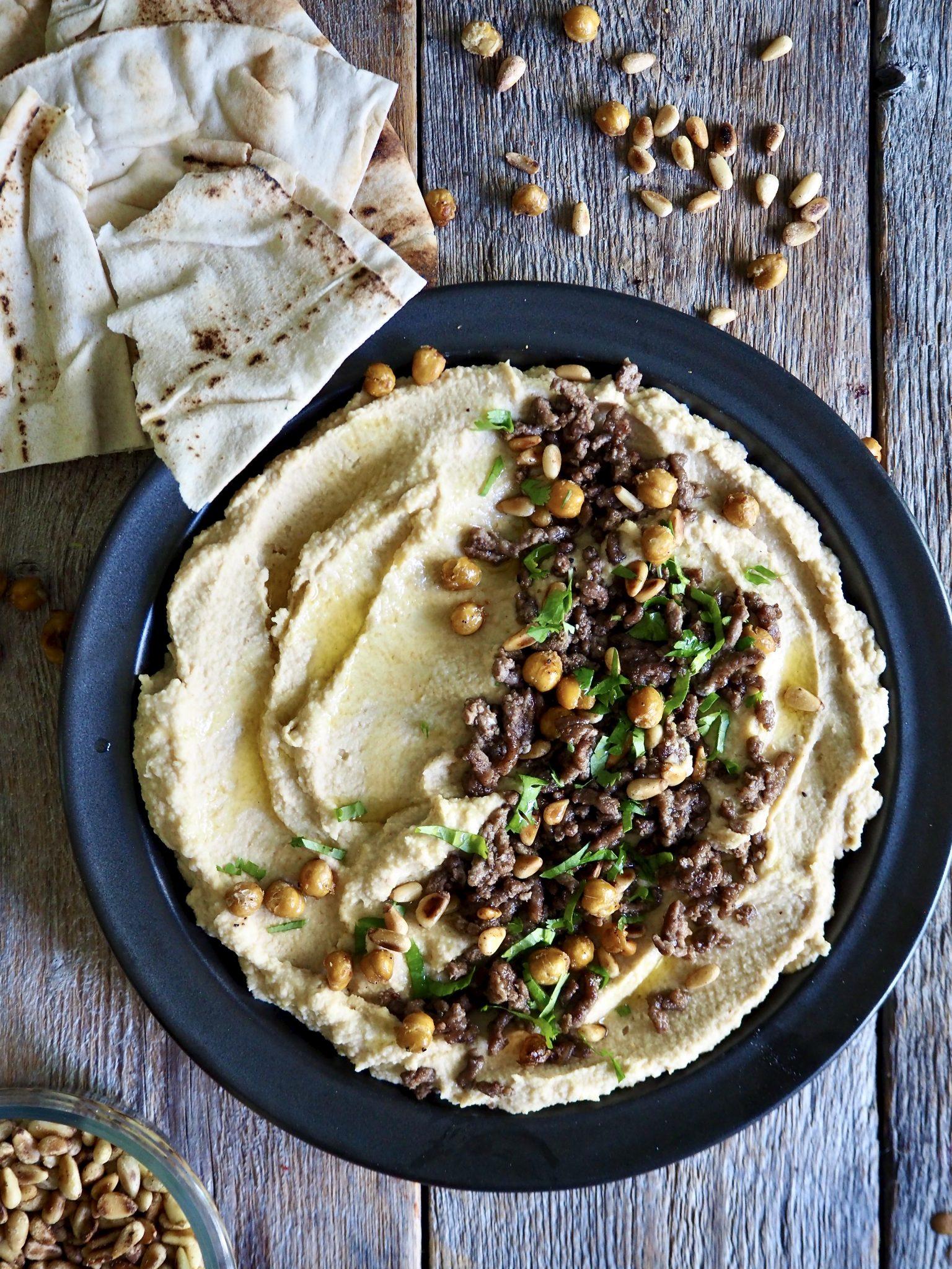 Hummus med kjøttdeig