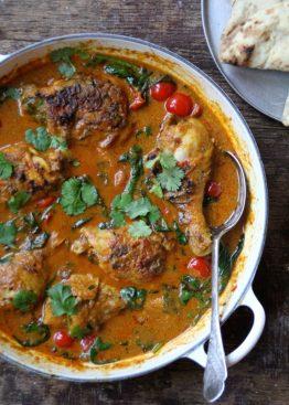 Indisk curry med kyllinglår