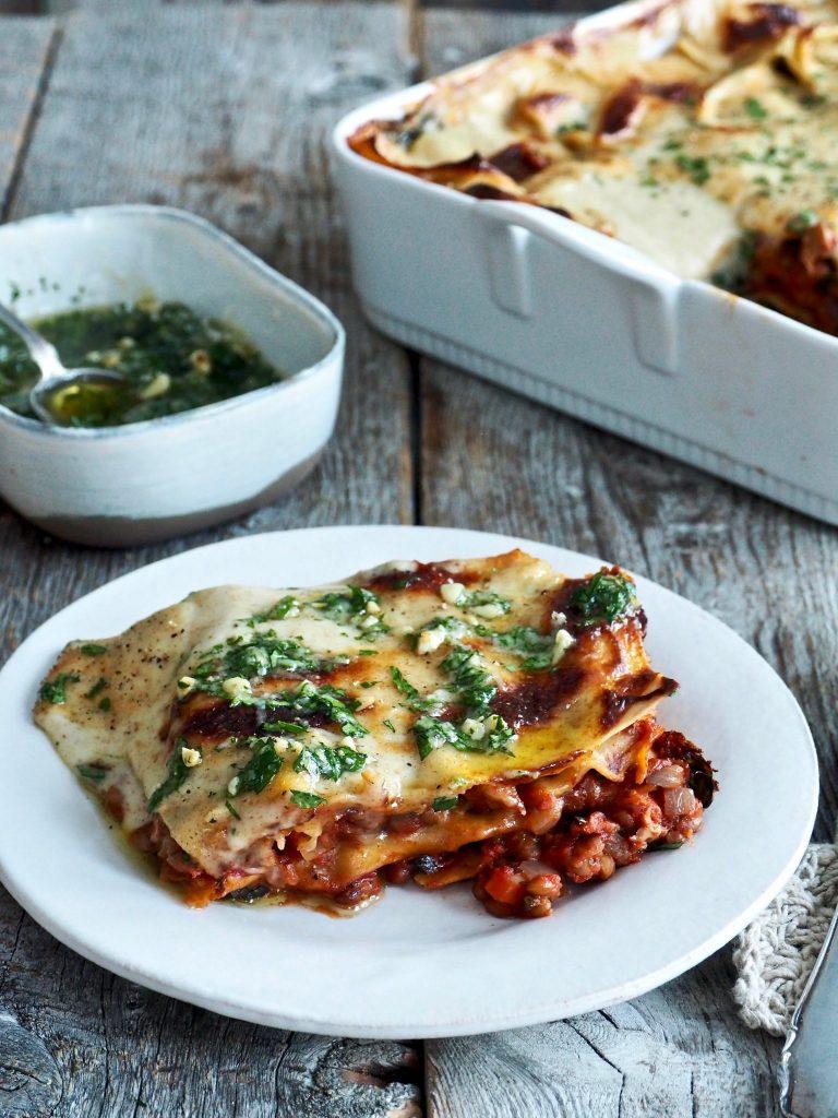vegetar lasagne - ukens oppskrifter