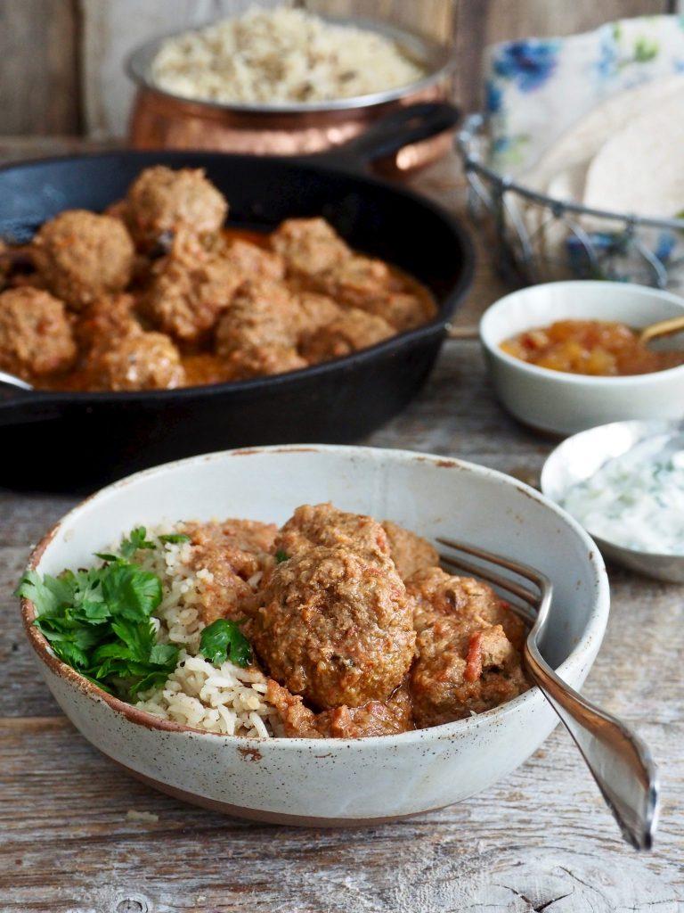 indiske kjøttboller i spicy saus
