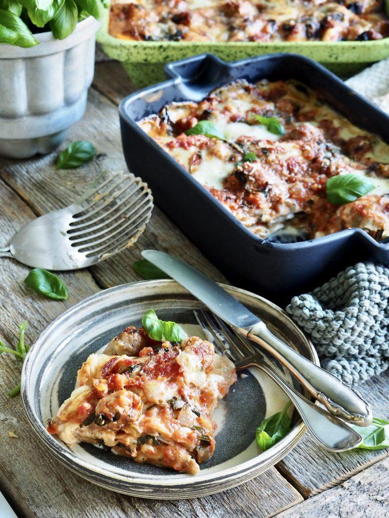 lasagne med lettvinte kjøttboller