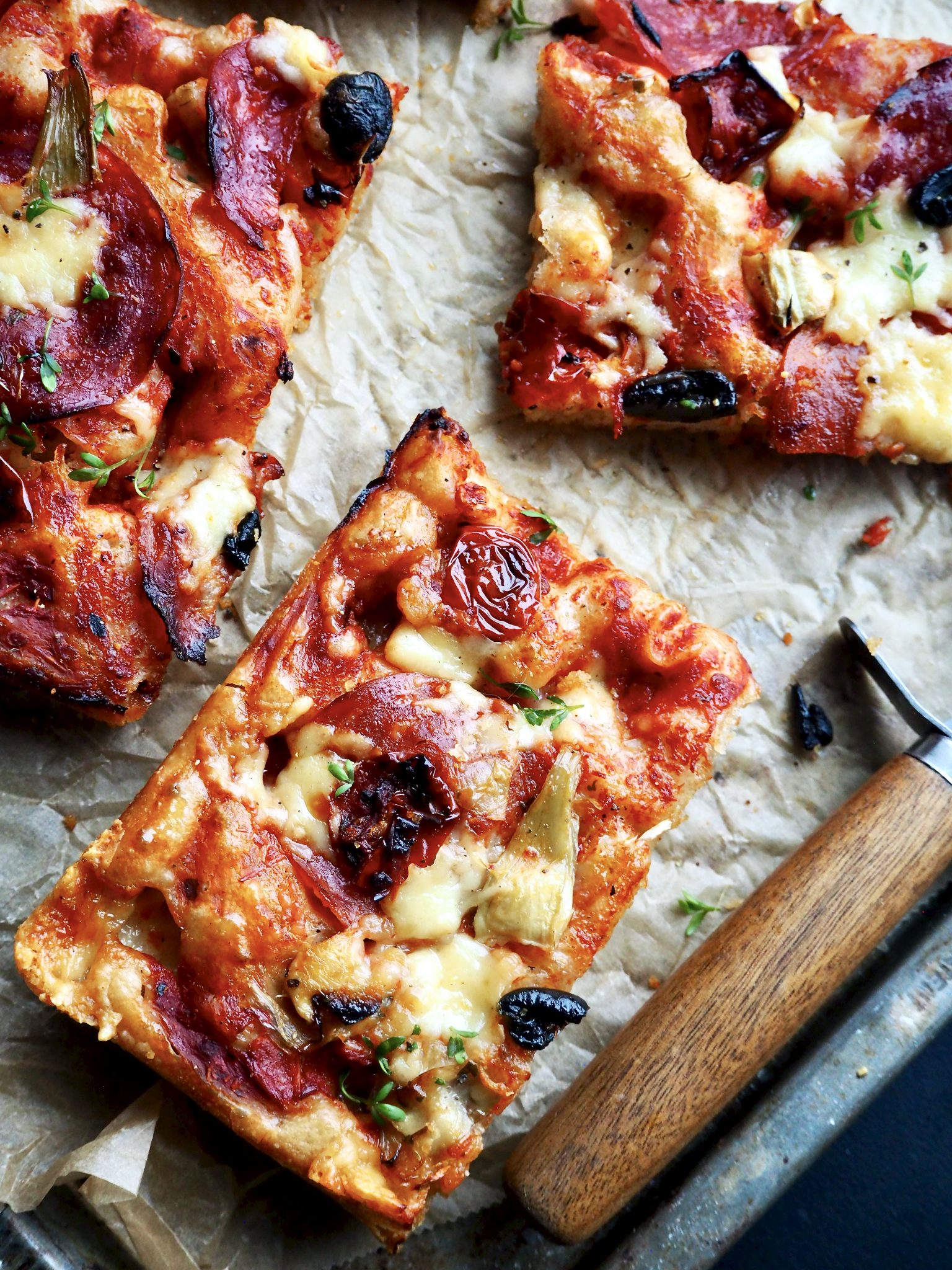 pizza i langpanne