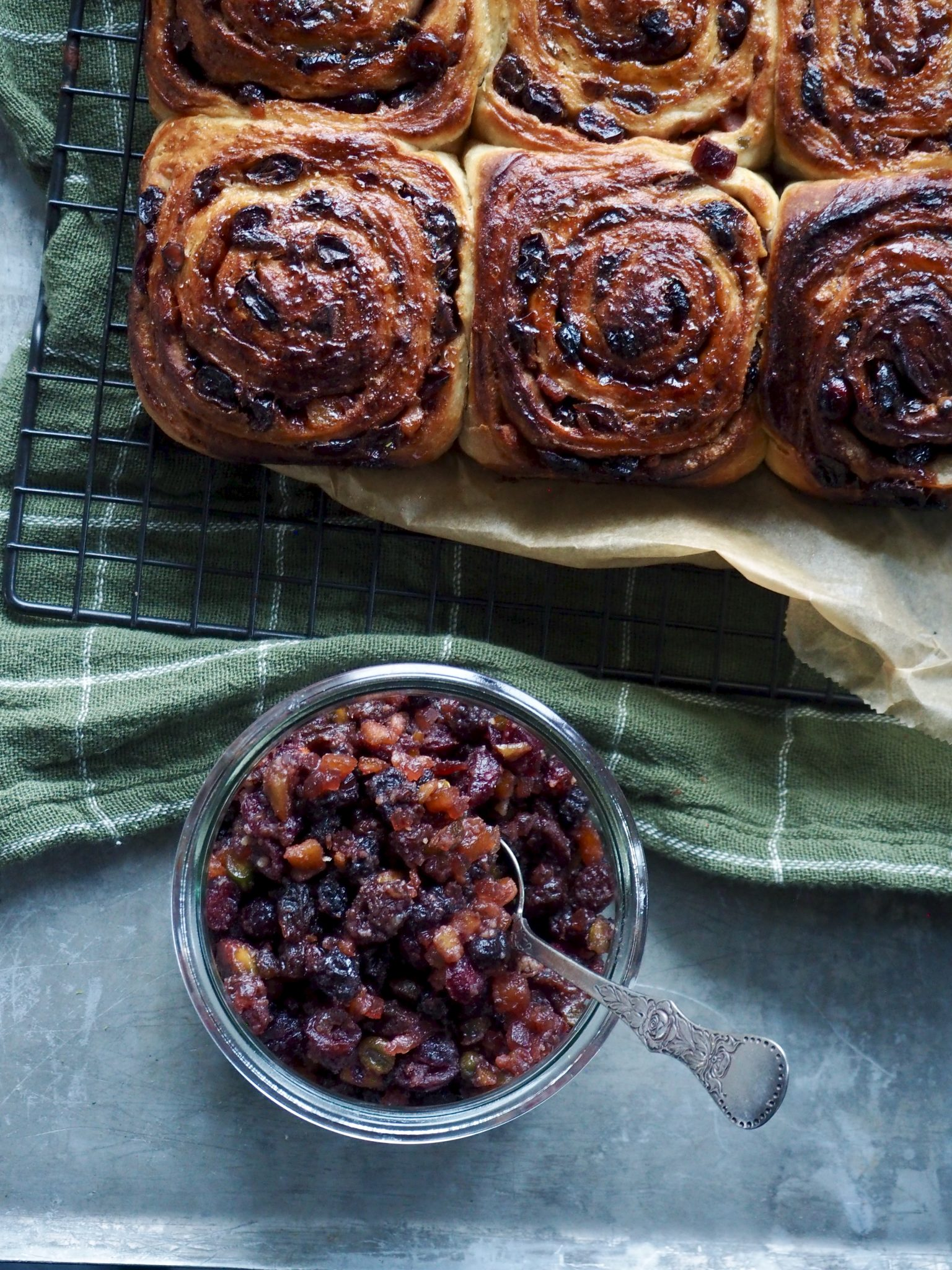 Eltefrie snurrer med mincemeat - engelsk fruktfyll