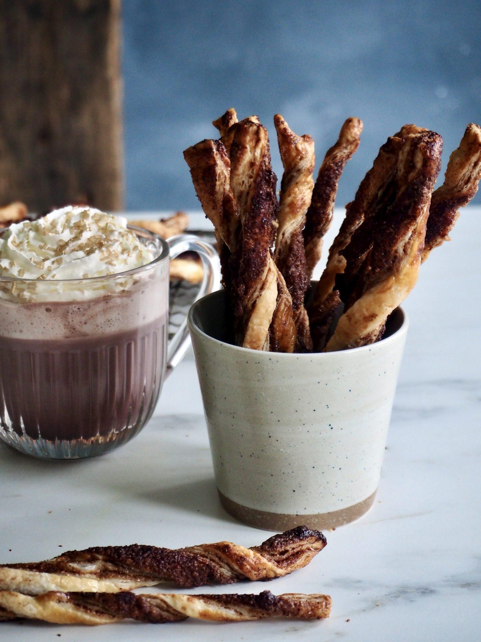 Raske, enkle kanelstenger - perfekt til kaffen (eller kakaoen)