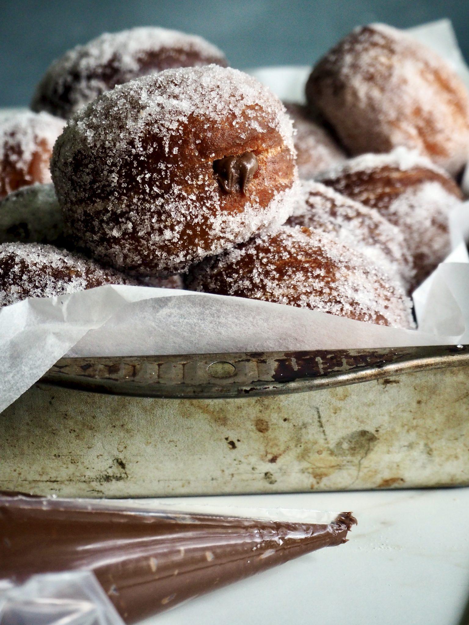Eltefrie berlinerboller - med nutella!