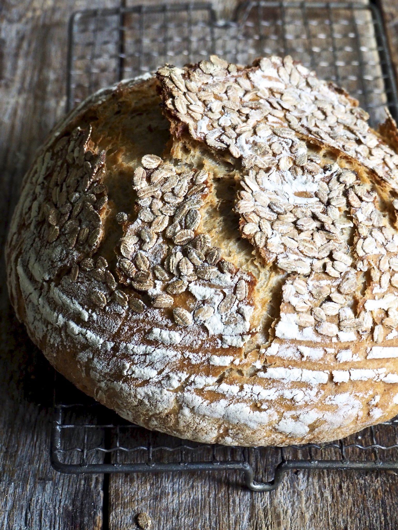 Eltefritt firekornsbrød - enkelt å bake, godt og sunt