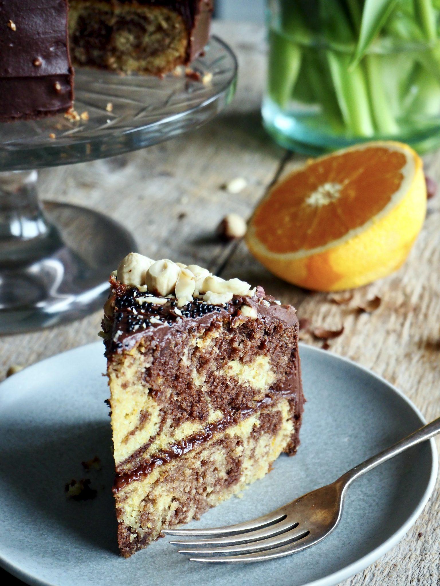 Marmorkake på 1,2,3 med appelsin - så digg!
