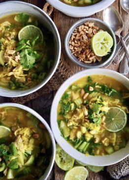 Enkel kyllingsuppe med ris og grønnsaker- sunt og godt