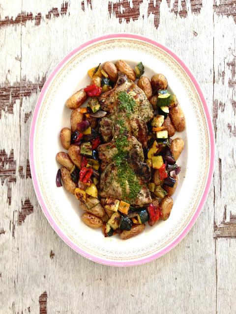 grillede koteletter med urtemarinade