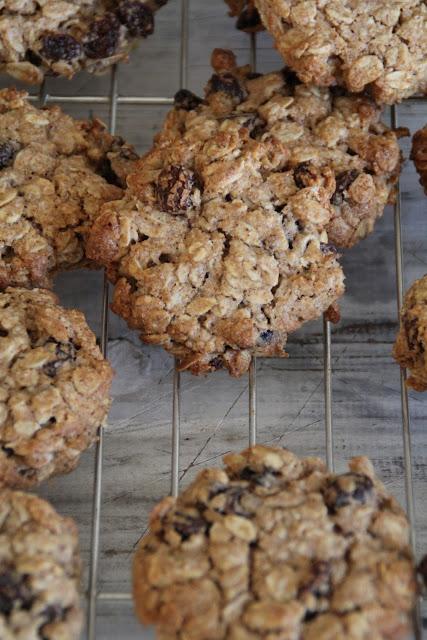 Havre- og rosincookies