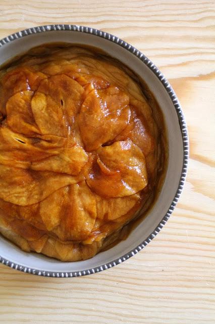 Karamellisert pære-terrine