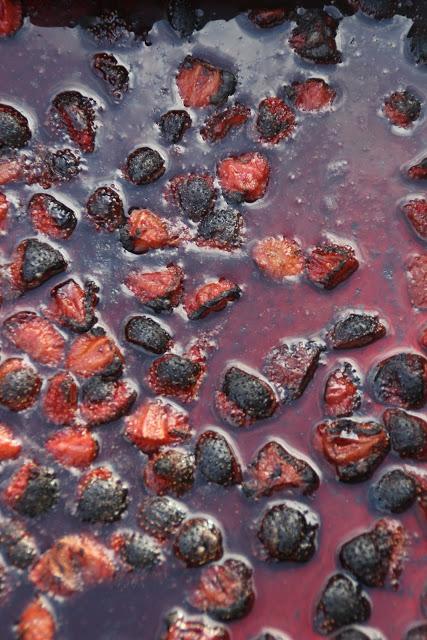 karamellisert jordbærsyltetøy