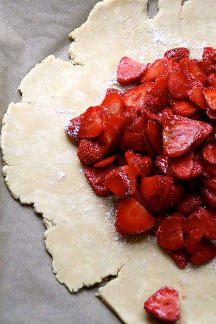 rustikk jordbærterte